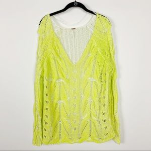 Free People oversize knit  sweater Tunic top